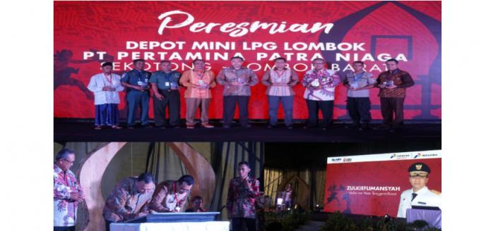 Resmikan Depot Mini LPG Pertama di NTB